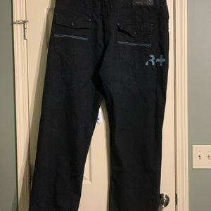 Rocawear Men's Black Jeans Flap 48 Big NICE!